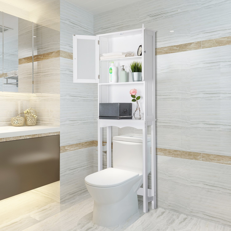 Kinbor 3 Shelf Over The Toilet Bathroom Space Saver, Cottage Collection Bathroom Spacesaver, White by Kinbor (Image #2)