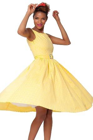 7f7c39c89f Sexyher Ladies 1950 s Vintage Style Classic Yellow Dress - RBJW1438(Yellow  ...