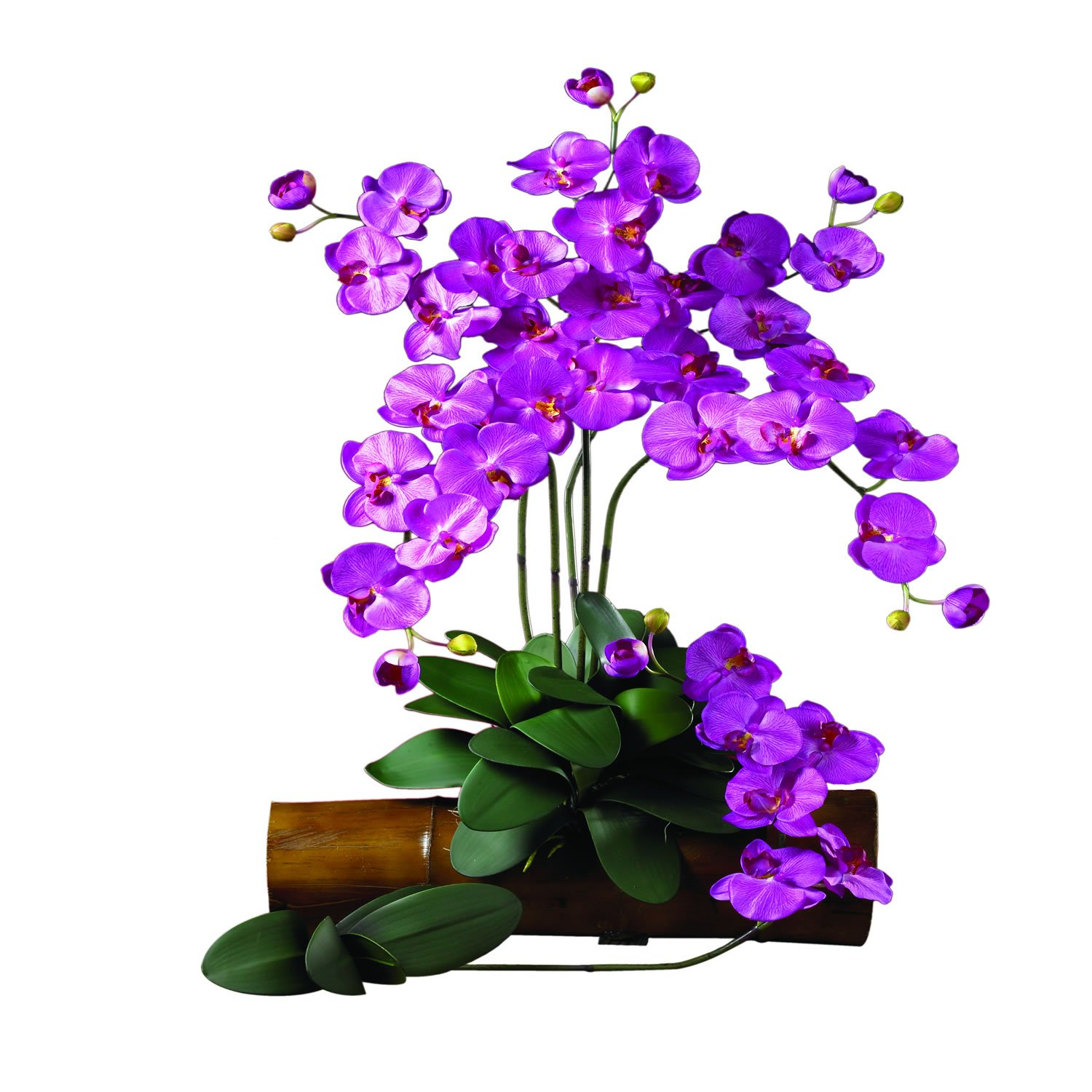 Nearly Natural 2044-OR-12 Phalaenopsis Stem, Orchid, Set of 12