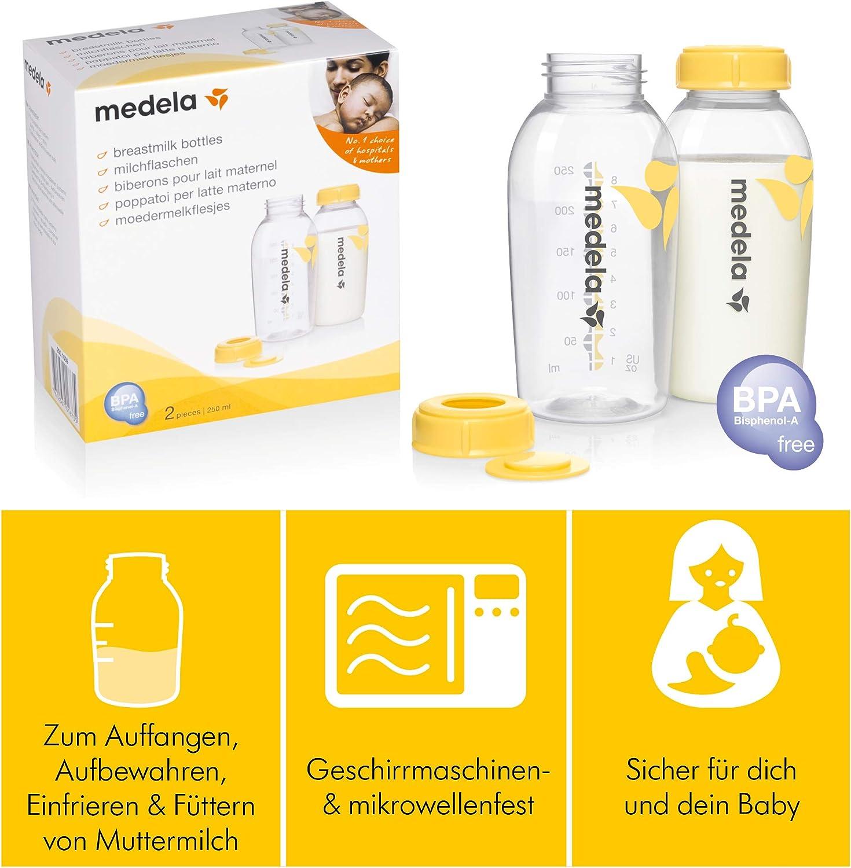250 ml Pack of 2 FREE DELIVERY Medela BPA-Free Breastmilk Bottles