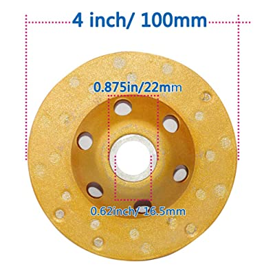 2 Pack 4inch//100mm Concrete Turbo Diamond Grinding Cup Wheel 12 Segs Heavy Duty for Angle Grinder Polishing and Cleaning Concrete Granite Marble Stone Rock Cement