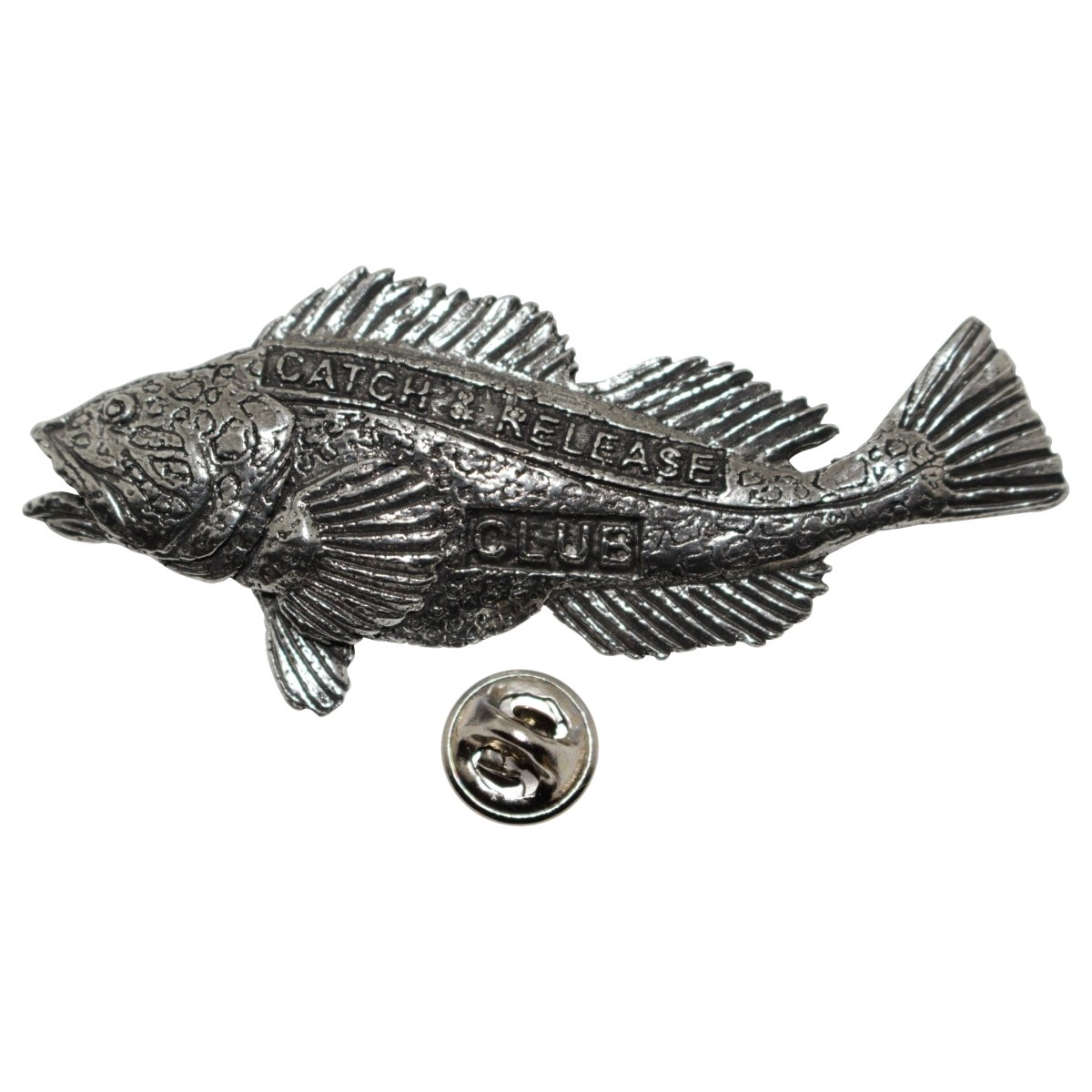 Lingcod Pewter Pin Catch /& Release P382