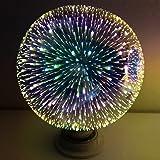 LIYUDL Multicolor LED light Bulb, E27 G80 Colourful 3D Fireworks Ball Lights Star Shine Decoration Multiple Reflection Alluminum Plated Glass