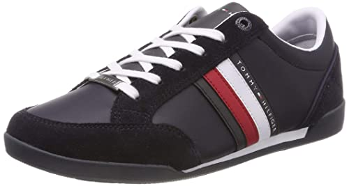 Tommy Hilfiger Corporate Material Mix Cupsole, Zapatillas para Hombre