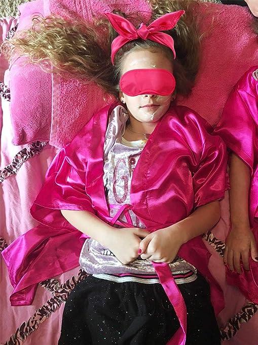 Tacobear 18 Piezas SPA Artículos de Fiesta Niña Bolso Fiesta Antifaz para Dormir Kimono Camisón Lima de Uñas Separador Dedos Pie Pegatinas Uñas ...