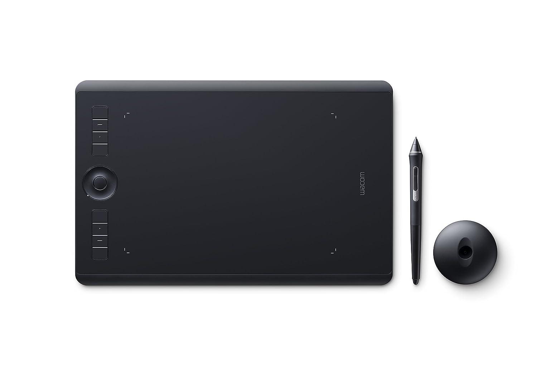 Wacom PTH-660-S Intuos Pro - Tableta gráfica con bolígrafo sensible a la presión a 8000 niveles, tamaño M