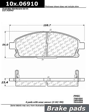 Centric Front Ceramic Brake Pads 1 Set Fits 2002-2007 Nissan X-Trail