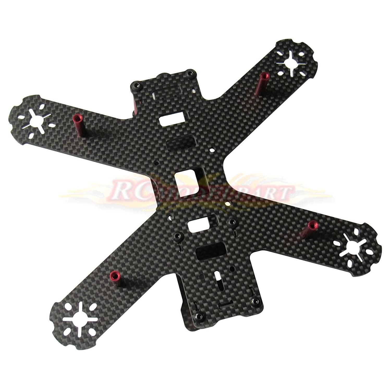amazoncom 3k carbon fiber qav210 mini fpv racing quadcopter drone frame kit by powerday toys games