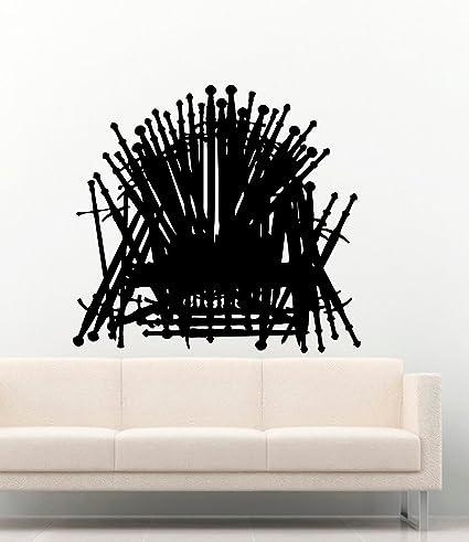 Fine Amazon Com Game Of Thrones Iron Throne Got Vinyl Wall Creativecarmelina Interior Chair Design Creativecarmelinacom