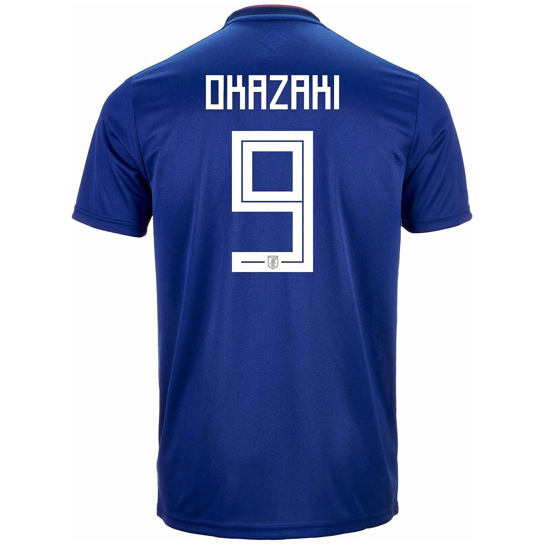 adidas Men's OKAZAKI # 9 Japan Home Soccer Stadium Jersey World Cup Russia 2018/サッカーユニフォーム 日本 岡崎選手 B07CXD3ZTQUS X-Large