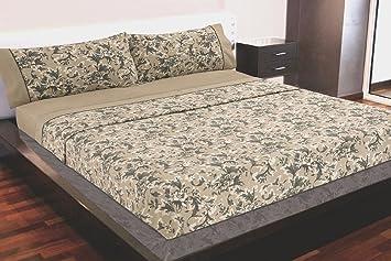 Montse Interiors Juego de sábanas Algodón 100% Flores Beig(ADA, para cama de 90x190/200): Amazon.es: Hogar
