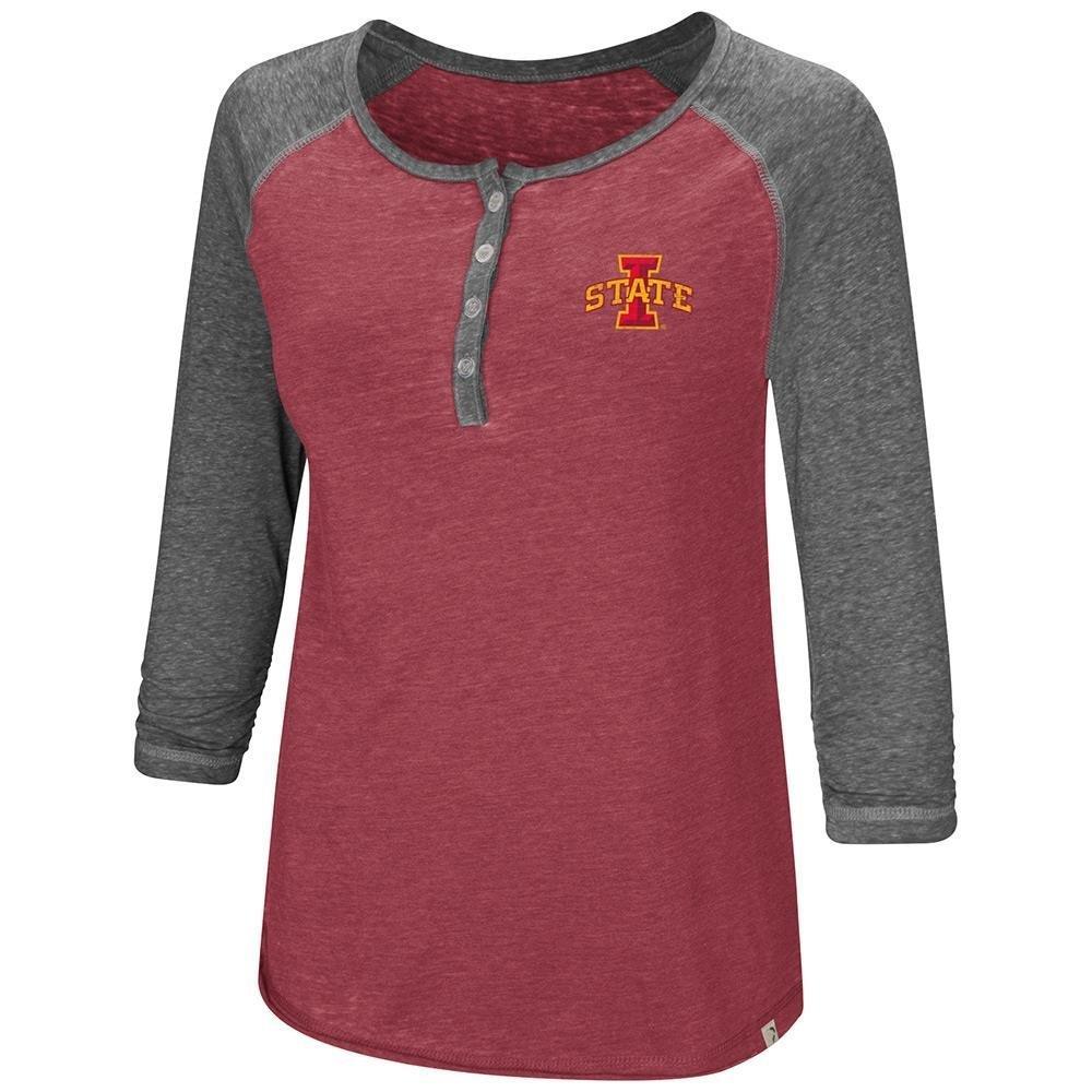 レディース アイオワ州サイクロンズ ヘンリー七分袖Tシャツ B07DWHJPHP  X-Large