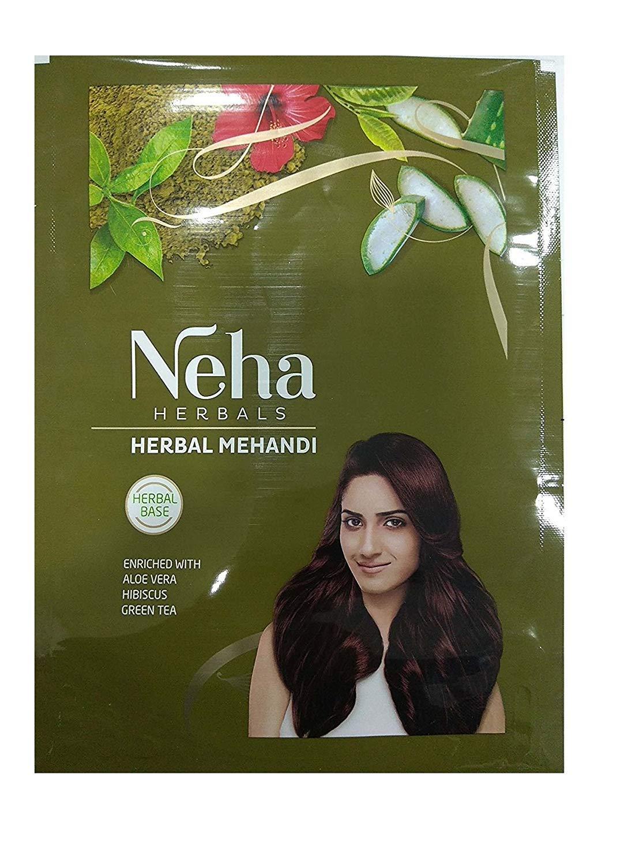 Neha Herbal Mehndi Pure & Natural Henna Mehandi Powder 55 Gm x 3 Pack