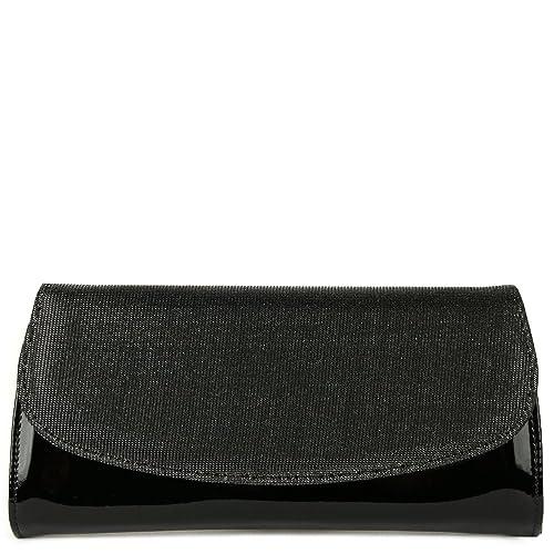 c919a4edd HB Claudia Womens Clutch Handbag One Size Black Patent/Sparkle ...