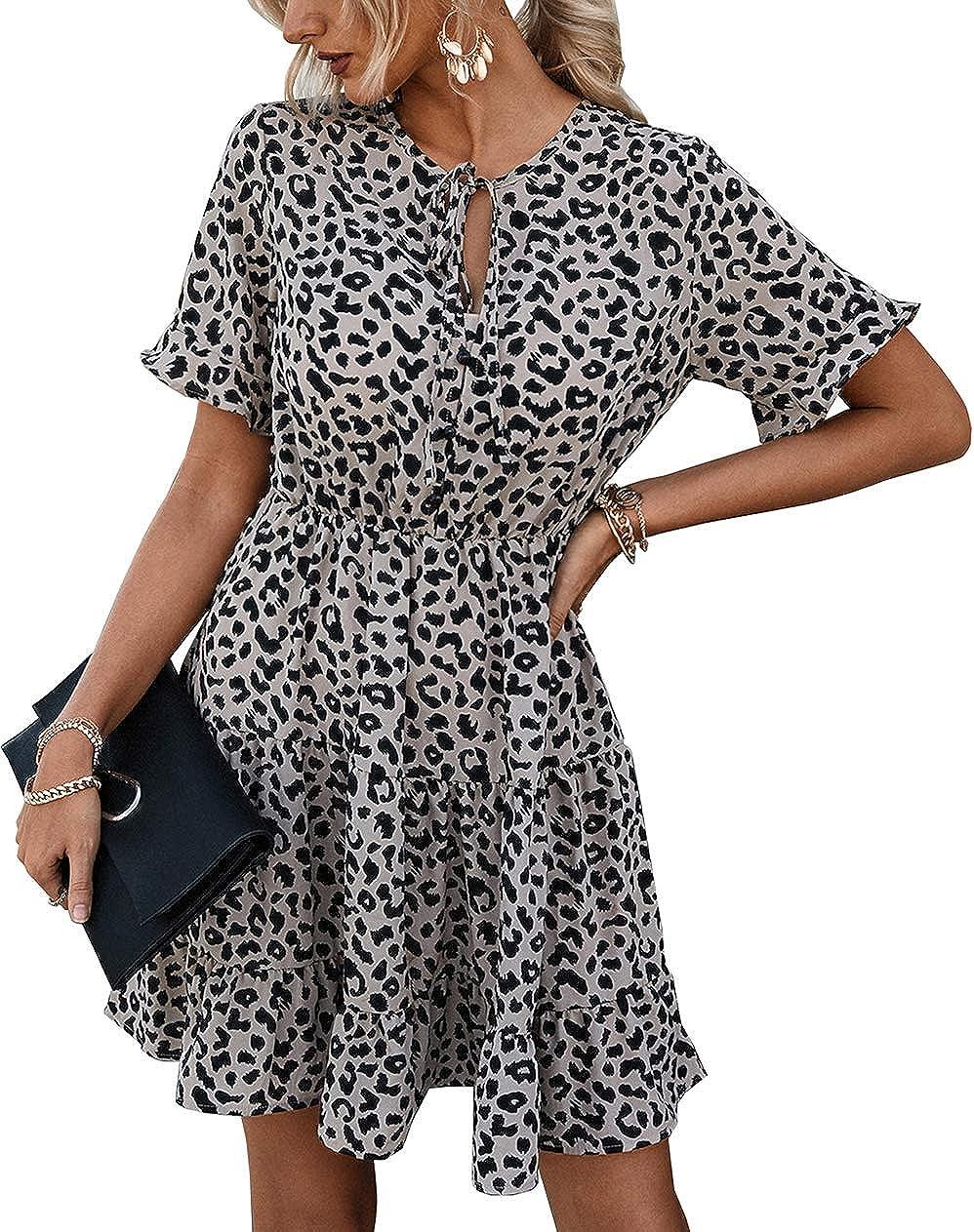 Sundress Patterned dress Cotton summer dress Multi wear dress Beach dress Minidress Light dress Vintage Cotton Dress M Summer dress