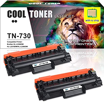 Brother TN760 Toner for Brother MFC-L2710DW HL-L2350DW Printers