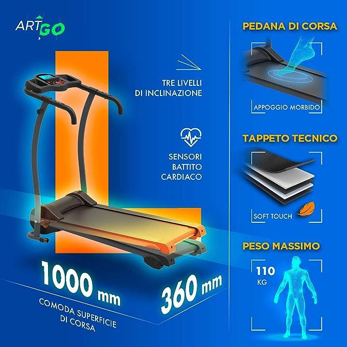 ArtGo Leonardo Cinta de Correr Plegable eléctrica Velocidad máxima ...