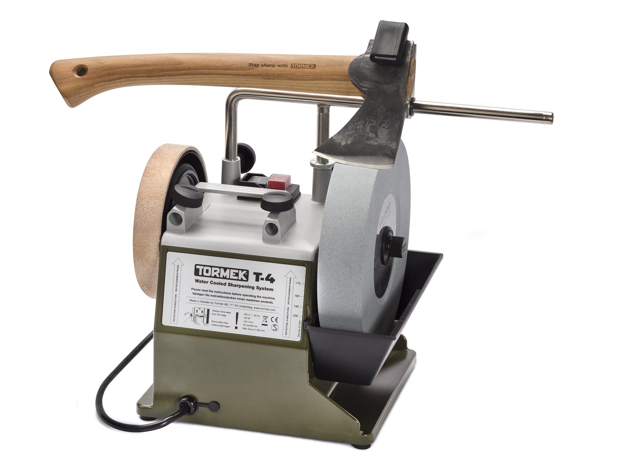 Tormek Limited Edition T4 Bushcraft, Hunter Green, TOR-BCT4 Wet Grinder, Tool and Knife Sharpening System – $110 Bonus Pack Includes SVA-170 Axe Jig and SVM-45 Knife Jig and Mora Kansbol 9865 Knife by Tormek (Image #3)