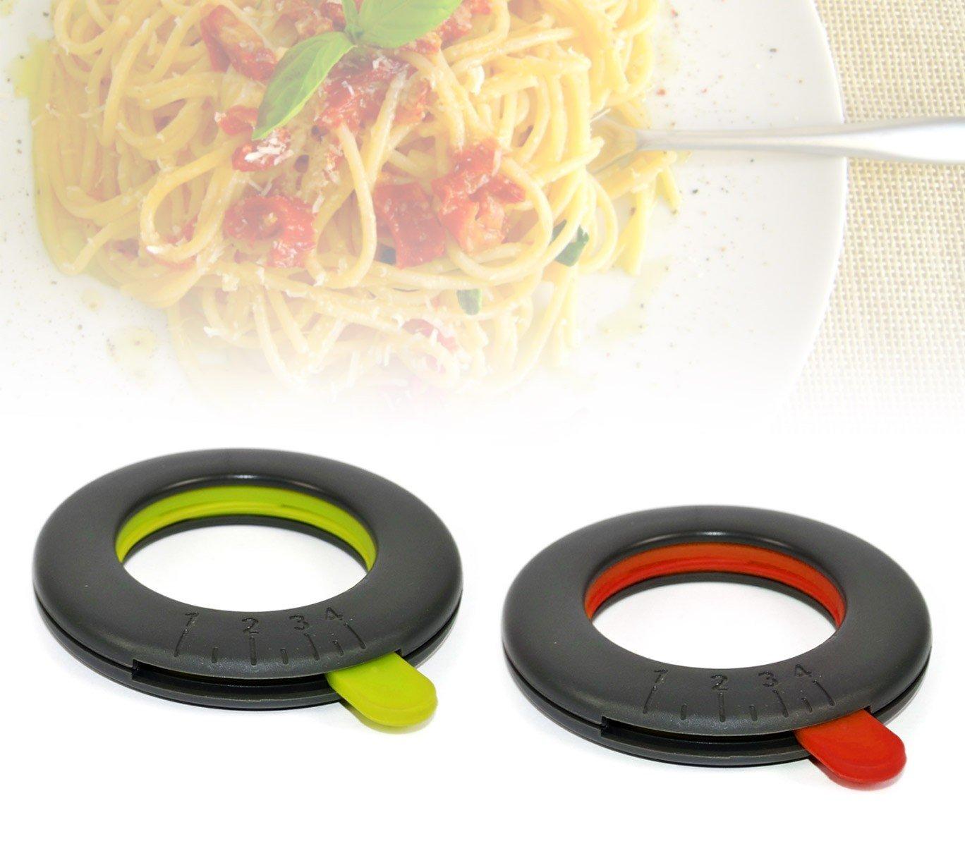 Medidor de espaguetis ajustable de 1 a 4 porciones Rojo Menaje de cocina