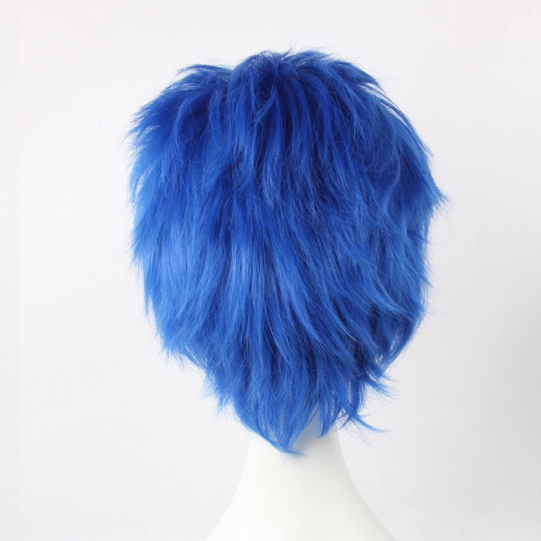 Perruque courte en couches HOOLAZA Vocaloid Kaito Fairy Tail Jellal Fernandes pour la f/ête dHalloween Perruques Cosplay