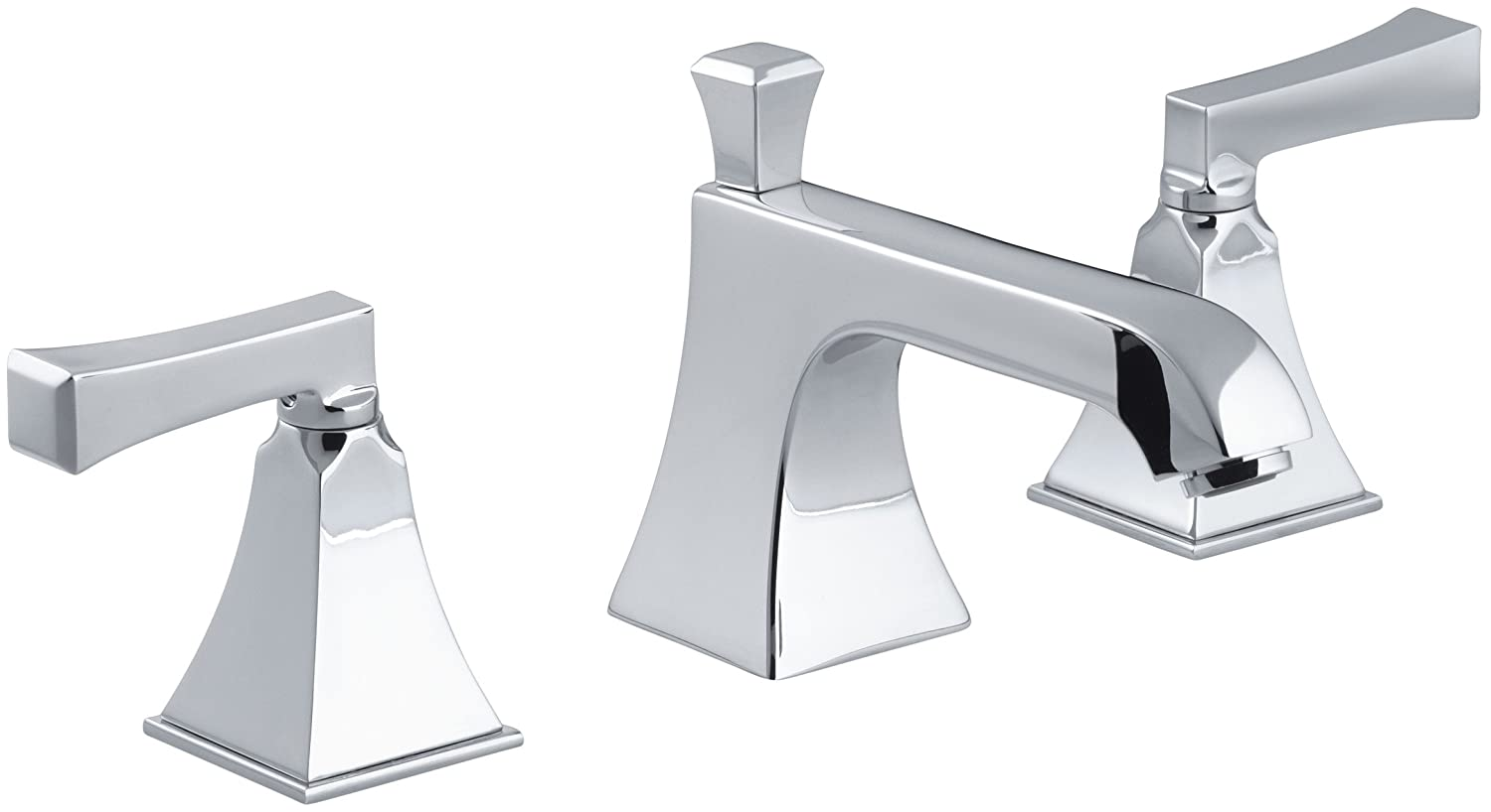 KOHLER K-454-4V-CP Memoirs Widespread Lavatory Faucet with Stately ...