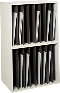 Safco Products 3030 Art Storage Rack, 8 Vertical Compartments, Black