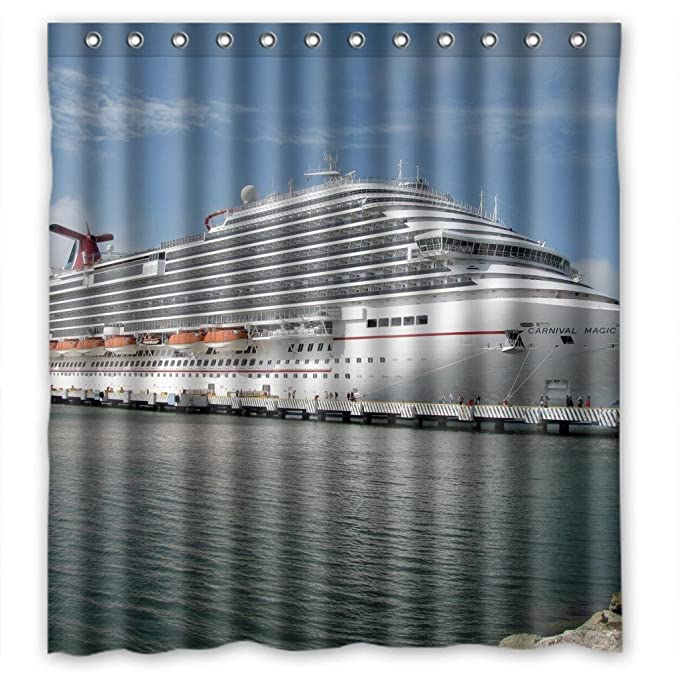 Amazon Beautiful Cruise Ship Oceanliner Shower Curtain Measure