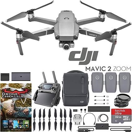 DJI Mavic 2 Zoom Drone Fly More Kit with 24-48mm Optical Zoom Camera CMOS  Sensor and 2X Flight Batteries, Car Charger, Battery Hub, Power Bank
