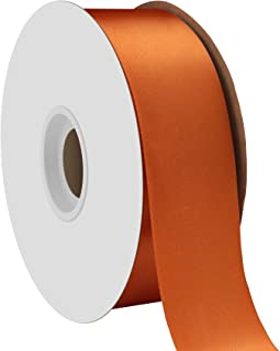 "product image for Offray Berwick 1.5"" Single Face Satin Ribbon, Burnt Sienna Orange, 50 Yds"