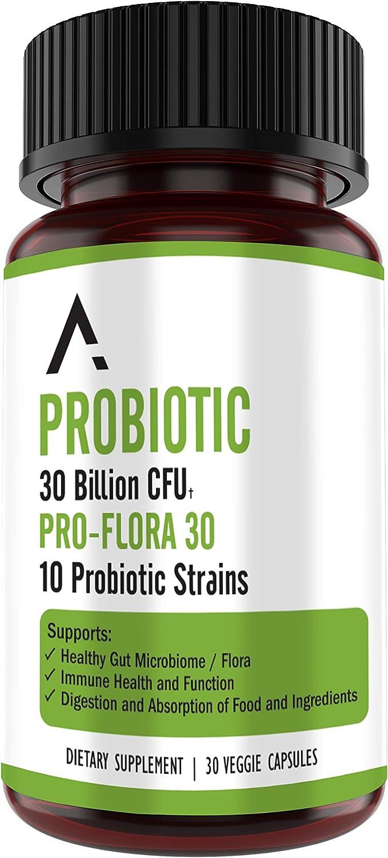 Ascendant Nutrition 30 Billion CFU Probiotic for Women and Men – Multi-Strain Spore Forming - Bacillus Subtilis, Lactobacillus Acidophilus, Bacillus Coagulans - Ultimate Digestive Health – 30 Capsules: Health & Personal Care