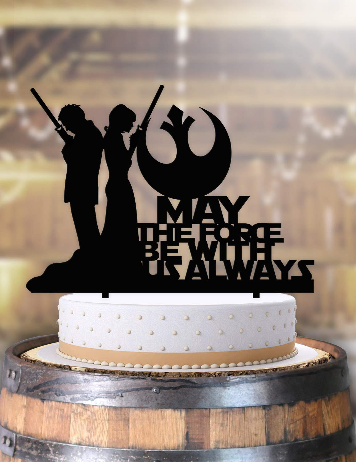 Amazon Com Jedi Couple Bride And Groom Star Wars Wedding Cake Topper Handmade