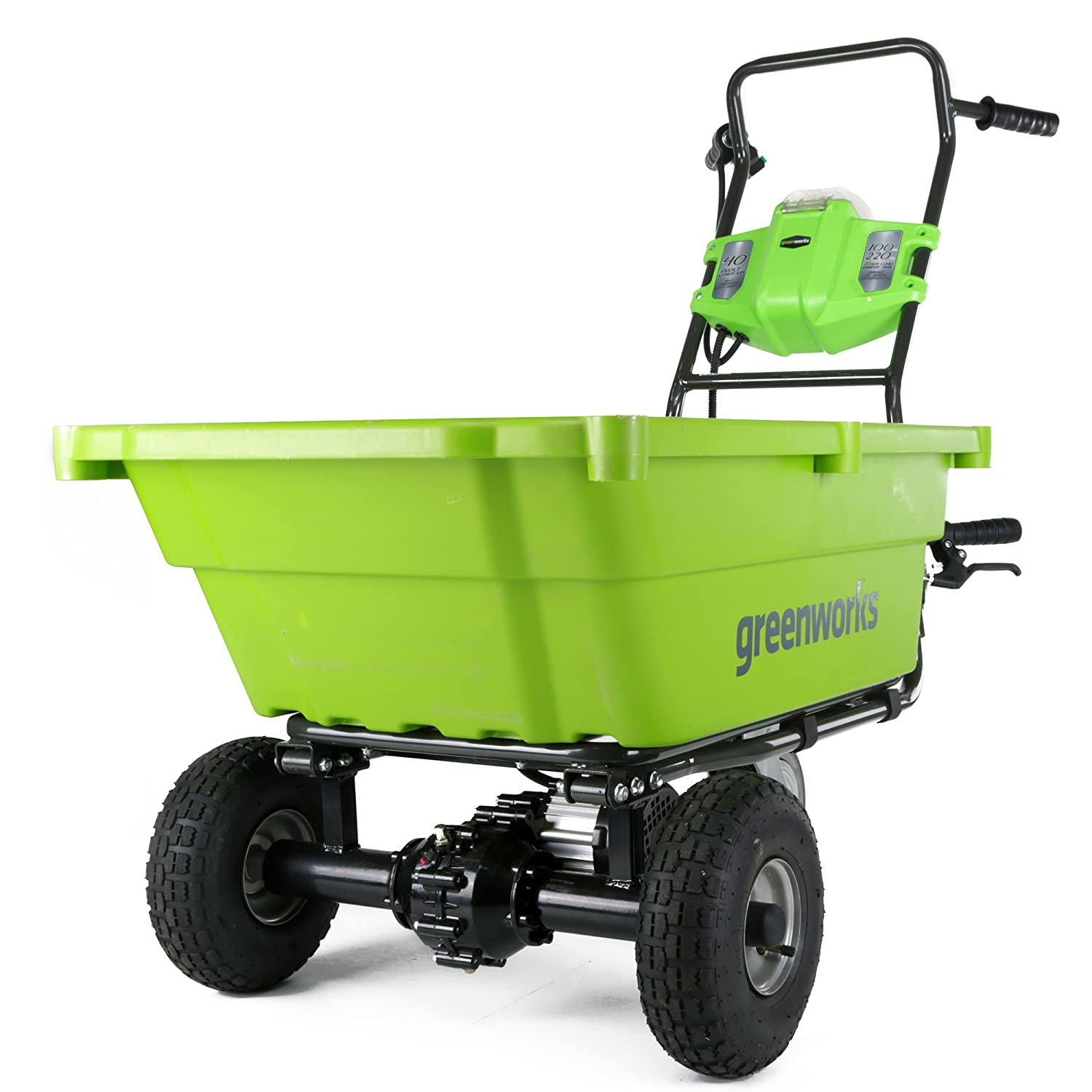 Amazon.com: Greenworks G-MAX - Carro de jardín (40 V), Con ...