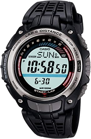 Casio CASIO Collection - Reloj digital de caballero de cuarzo con correa de resina negra (cronómetro, alarma, luz) - sumergible a 100 metros: Amazon.es: Relojes