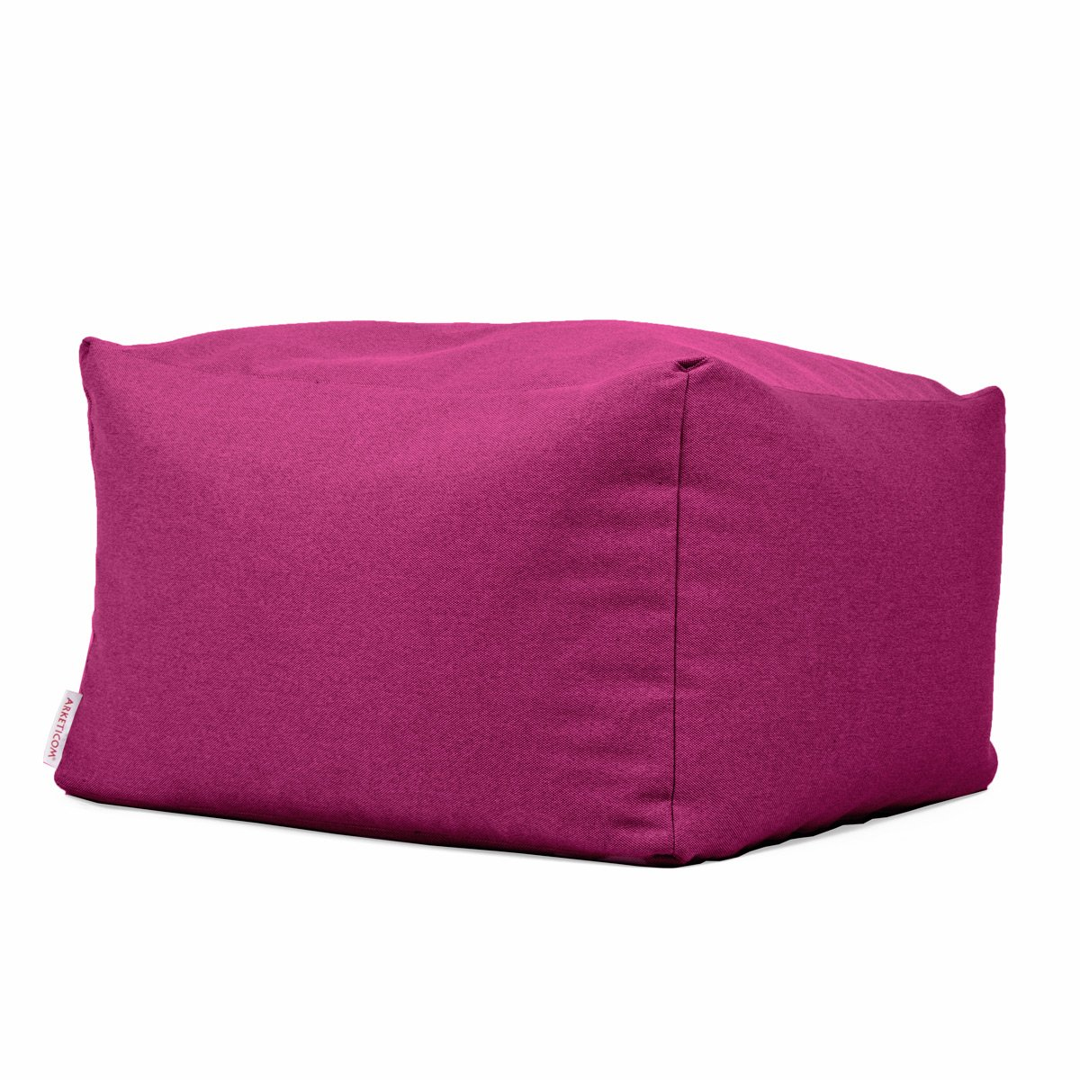 Arketicom Soft Cube Pouf reposepied d/éhoussable beanbag Poire Sac 42x42cm Creme