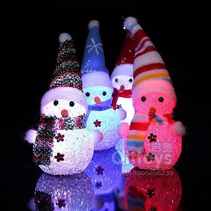Decoration De Noel Exterieur Lumineuse.I Love Diy 1piece Bonhomme De Neige Lumineux Père Noël Multicouleur Décoration De Noël Bonhomme De Neige Aléatoirement