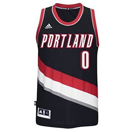 the latest 7319e 98bdd Amazon.com : Portland Trail Blazers Damian Lillard adidas ...