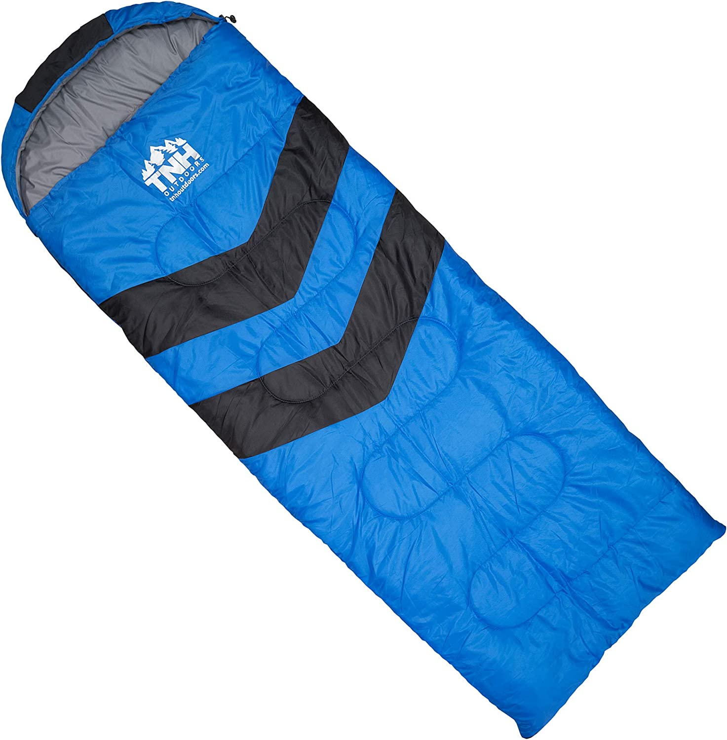 TNH Outdoors Sleeping Bag Waterproof Travelling Adult Outdoors Gear Great for 3 Hiking 4 Season Camping Warm in Winter Comfort with Compression Sack Mummy Lightweight Portable