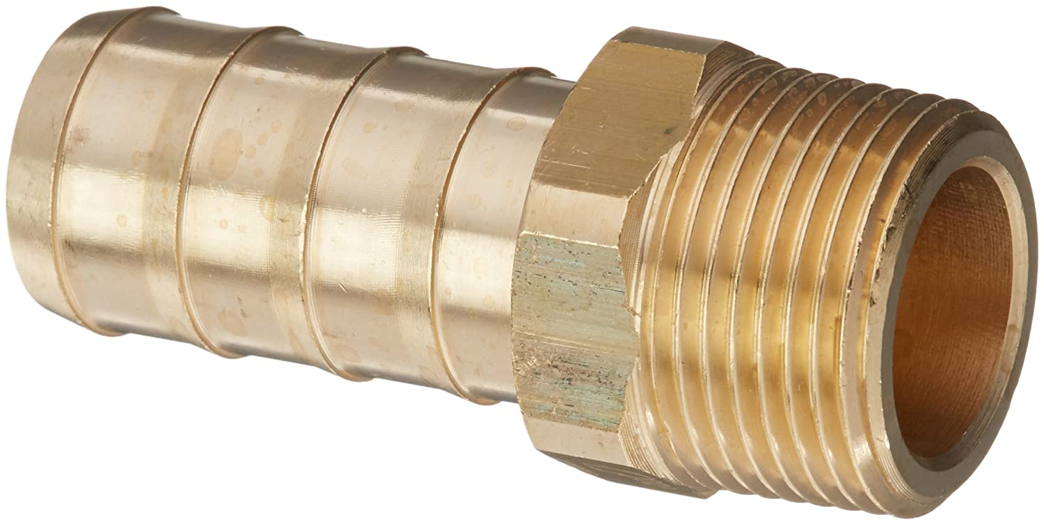 Brass Pack of 10 R1//8 Parker 0123 07 10-pk10 Adaptor BSPT Tailpiece for Rubber Hose Male 7 mm R1//8 and 7 mm