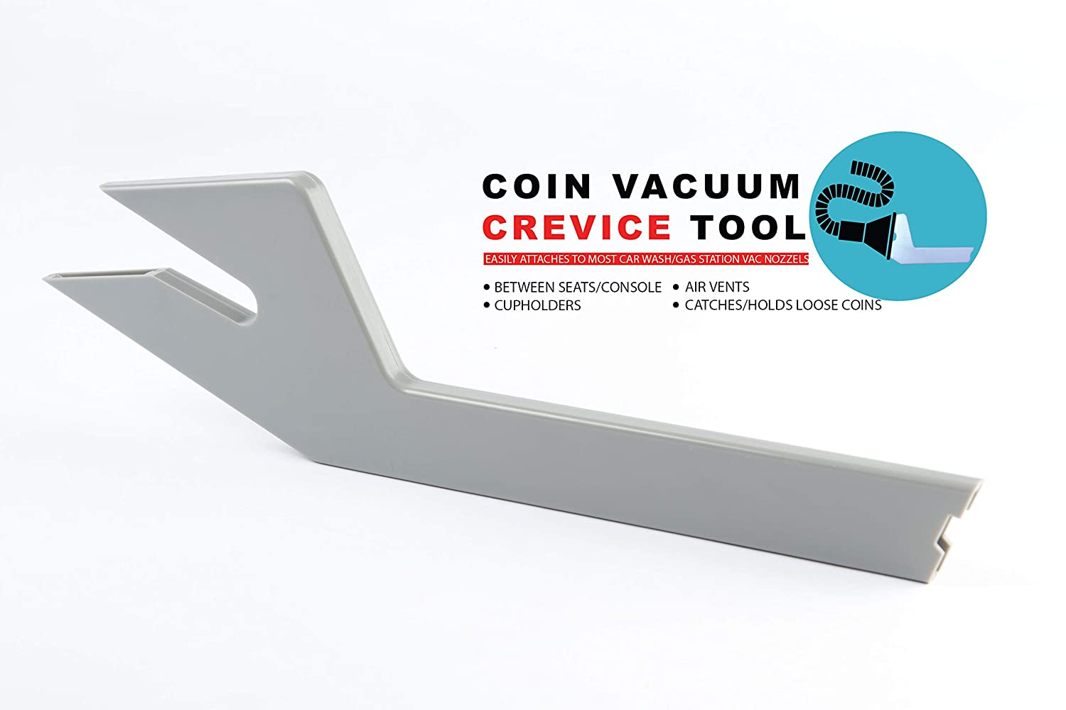 Web3 Products Vehicle Vac Vacuum Crevice Tool Attachment, Car Cleaning Tools, Shop Vac Accessories, Auto Detailing Supplies, Coin Vacuum Crevice Tool