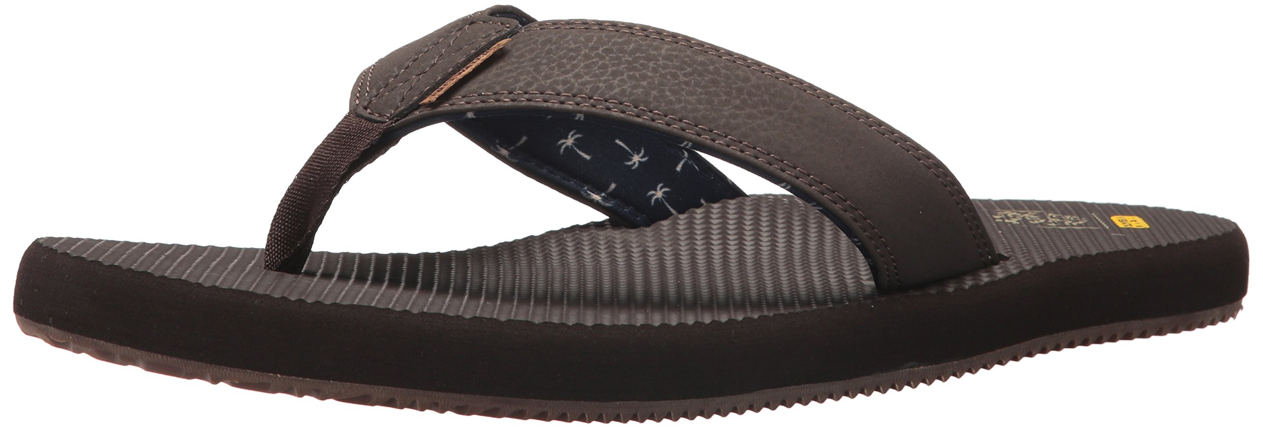 Freewaters Men's Supreem Dude Flip-Flop, Brown, 11 Medium US