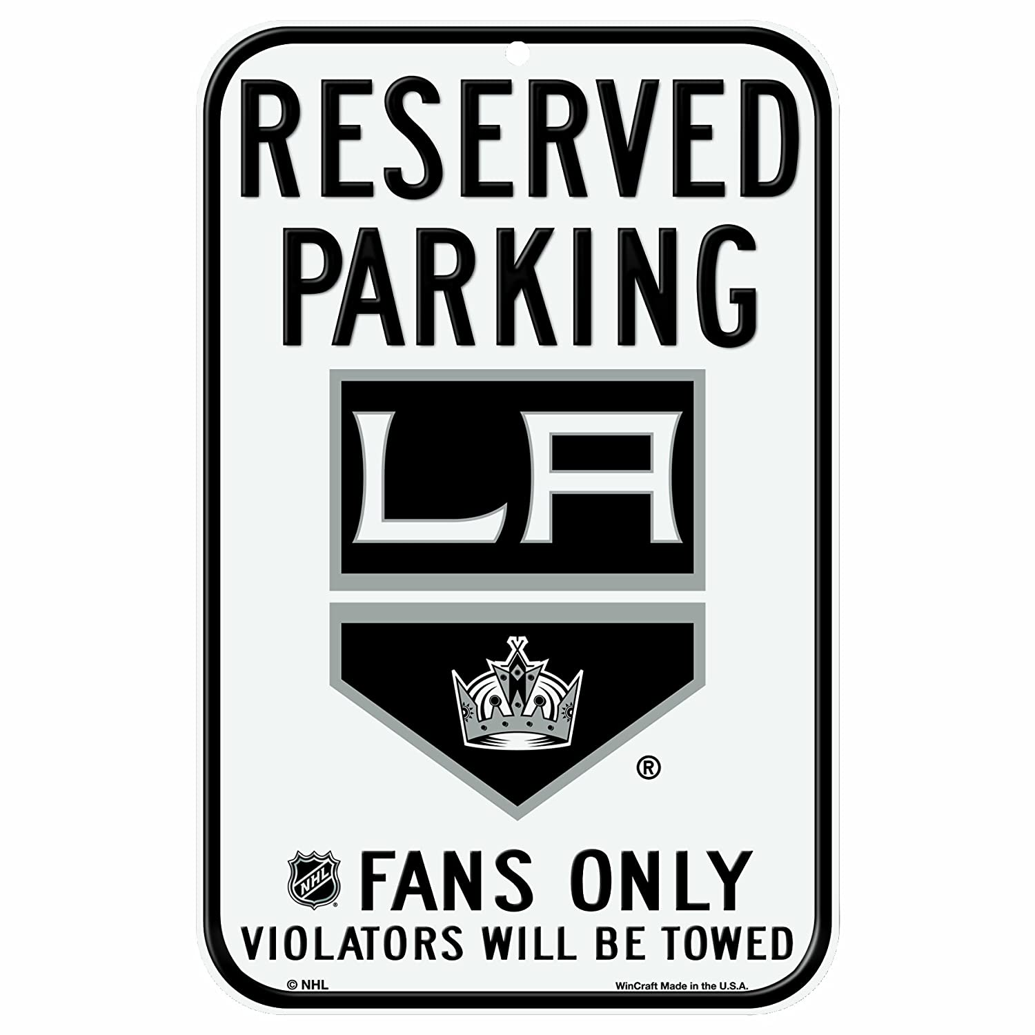 c90aec97d55 Amazon.com   NHL Los Angeles Kings 11-by-17 Inch Sign   Sports Fan Street  Signs   Sports   Outdoors