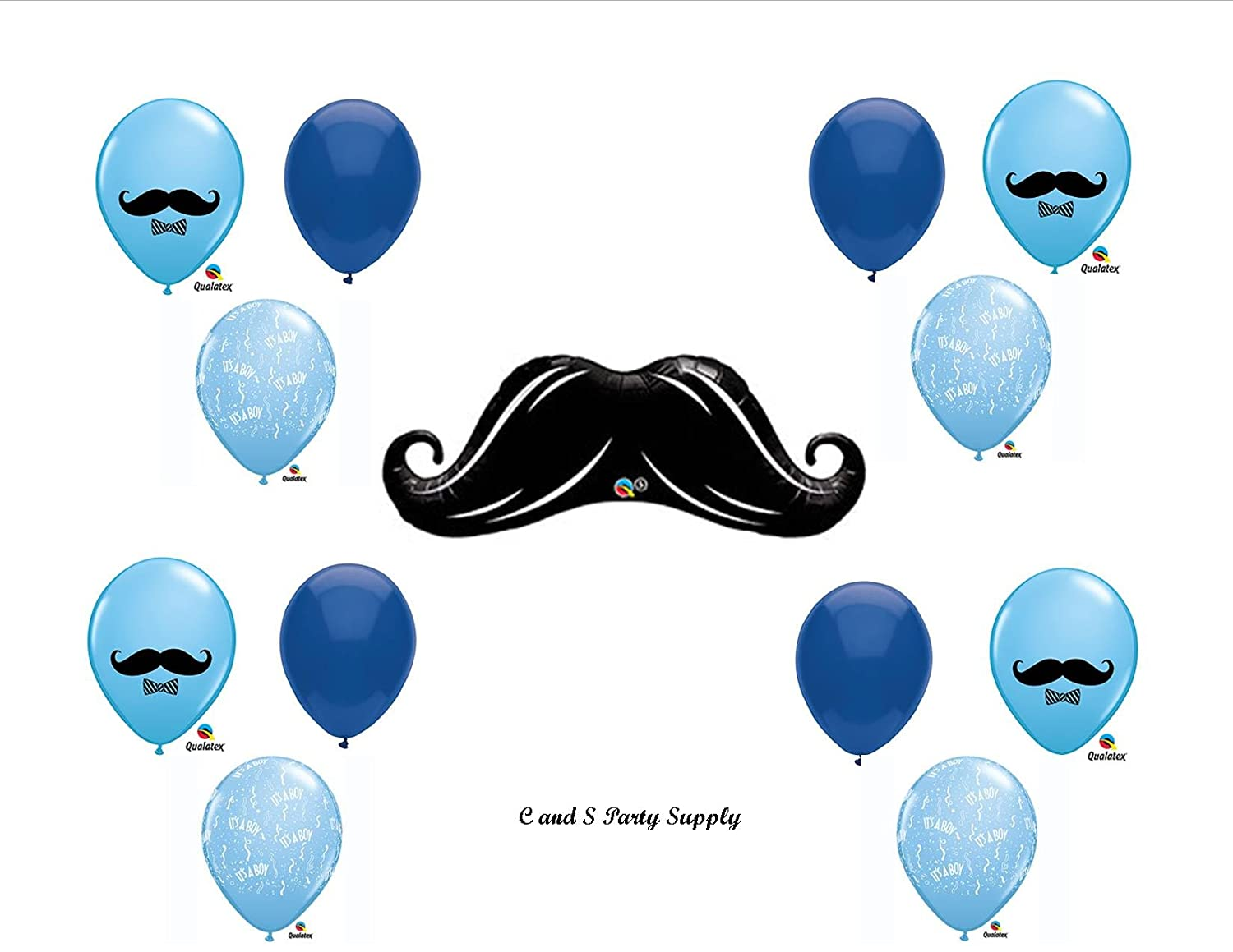 Amazon Little Man Mustache Baby Shower Balloons Decorations