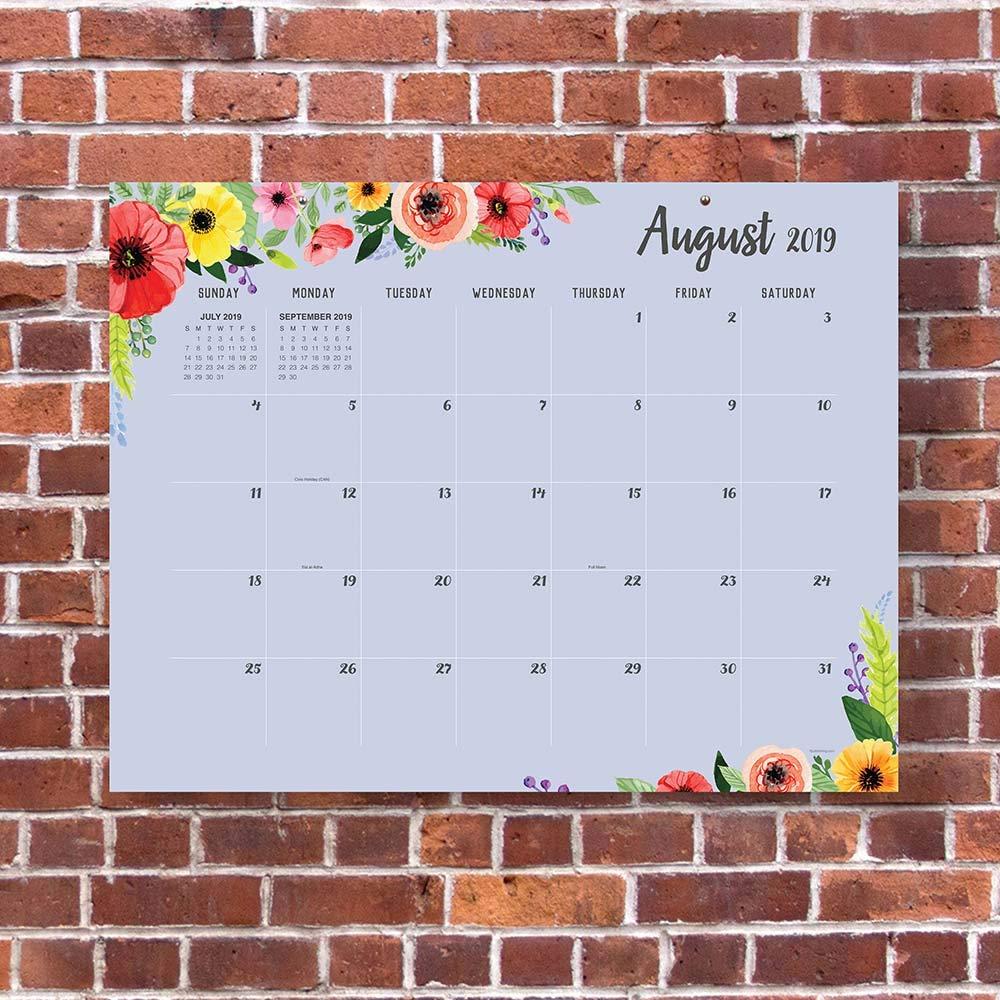 Bju Calendar 2021 Classic Floral Large Desk Pad Monthly 2020 Calendar: July 2019