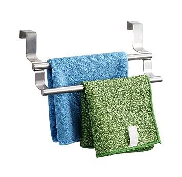 Edelstahl Wand Montiert Badezimmer Handtuch Rack Einfache Style Edelstahl  Schrank Tür Handtuch Aufhängen Doppel Ruten