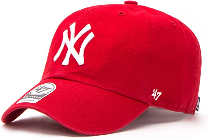 47Brand Kappe MLB New York Yankees Clean Up Gorra, Rojo, Talla ...