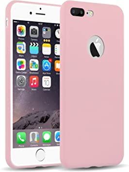 Funda iPhone 8 Plus, iPhone 7 Plus Case, JAMMYLIZARD Carcasa TPU Ultra Fina [ Jelly Case ] De Goma Silicona Back Cover, Rosa Melocotón: Amazon.es: Electrónica