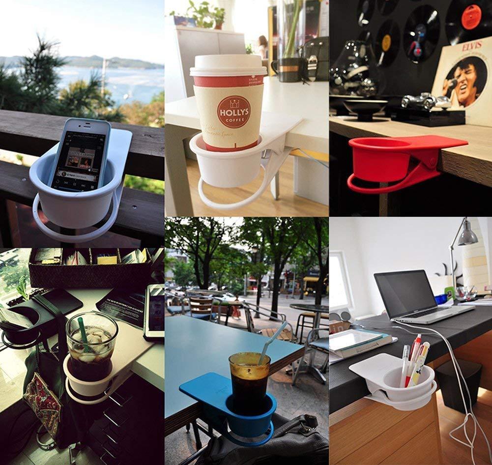 caf/é Taza dise/ño de Clip Bebidas TOUTOU Soporte para Taza de Bebida Soporte para Mesa de Cristal para Botellas de Cerveza platillo Soda para el hogar y la Oficina