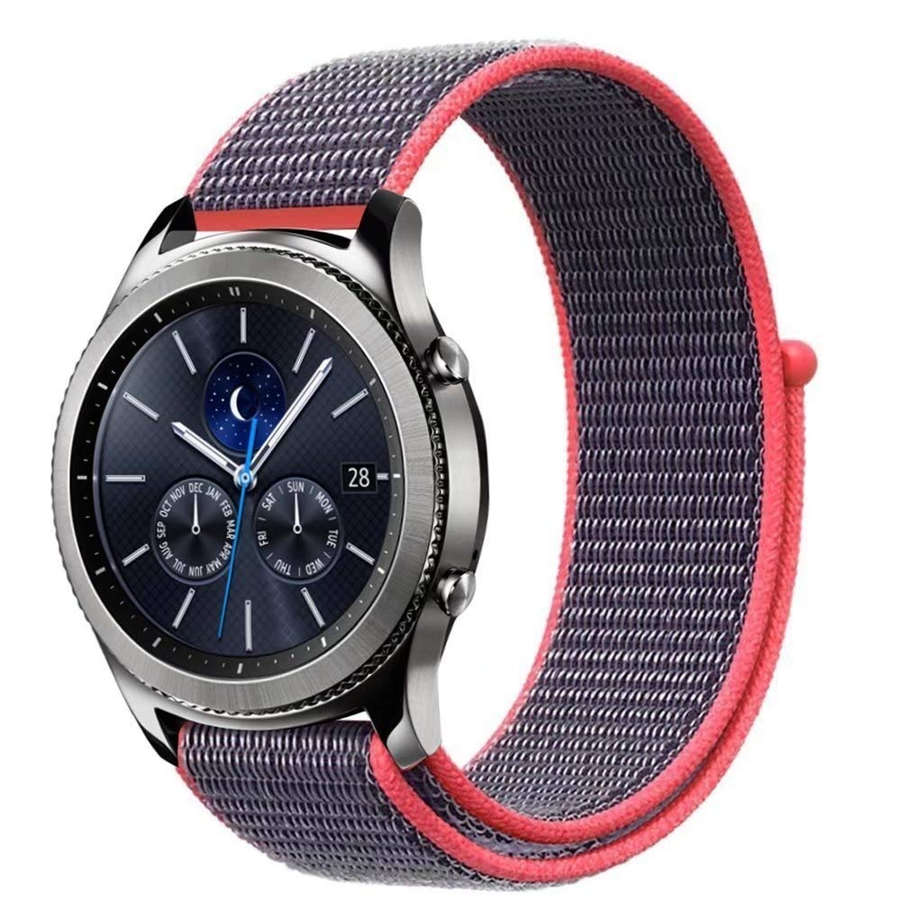 Jewh Sport Loop Bracelet for Samsung Gear s3 - Frontier/Classic Band Strap - Smart Watch - Nylon watchband for - Creative Samsung Watch Band (Electric Pink)
