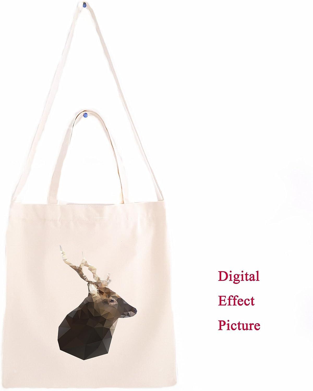 Colorful Geometric Reindeer Canvas Tote Bag