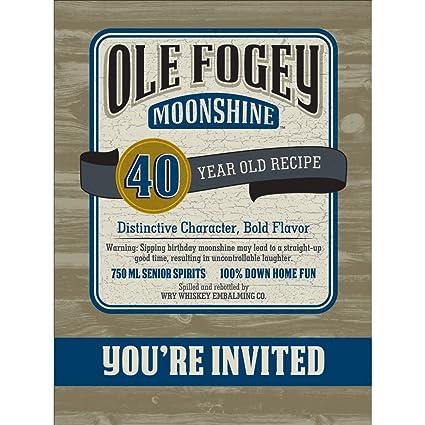 Amazon Creative Converting Ole Fogey Moonshine 40th Birthday